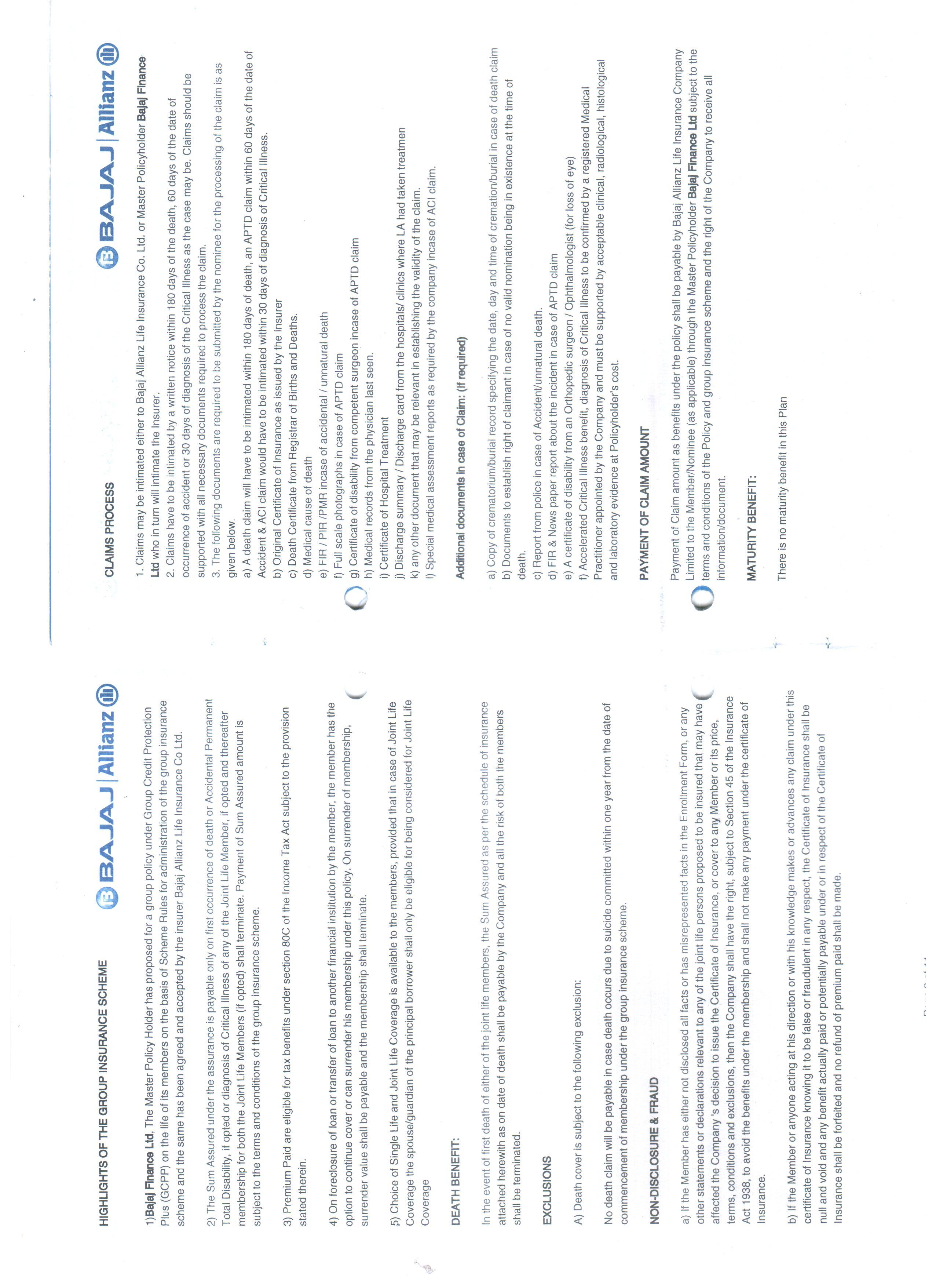Bajaj Allianz Life Insurance Co Ltd Customer Care