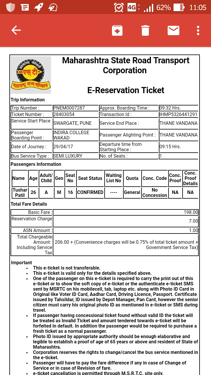 Hirkani Bus service from Pune to Mumbai