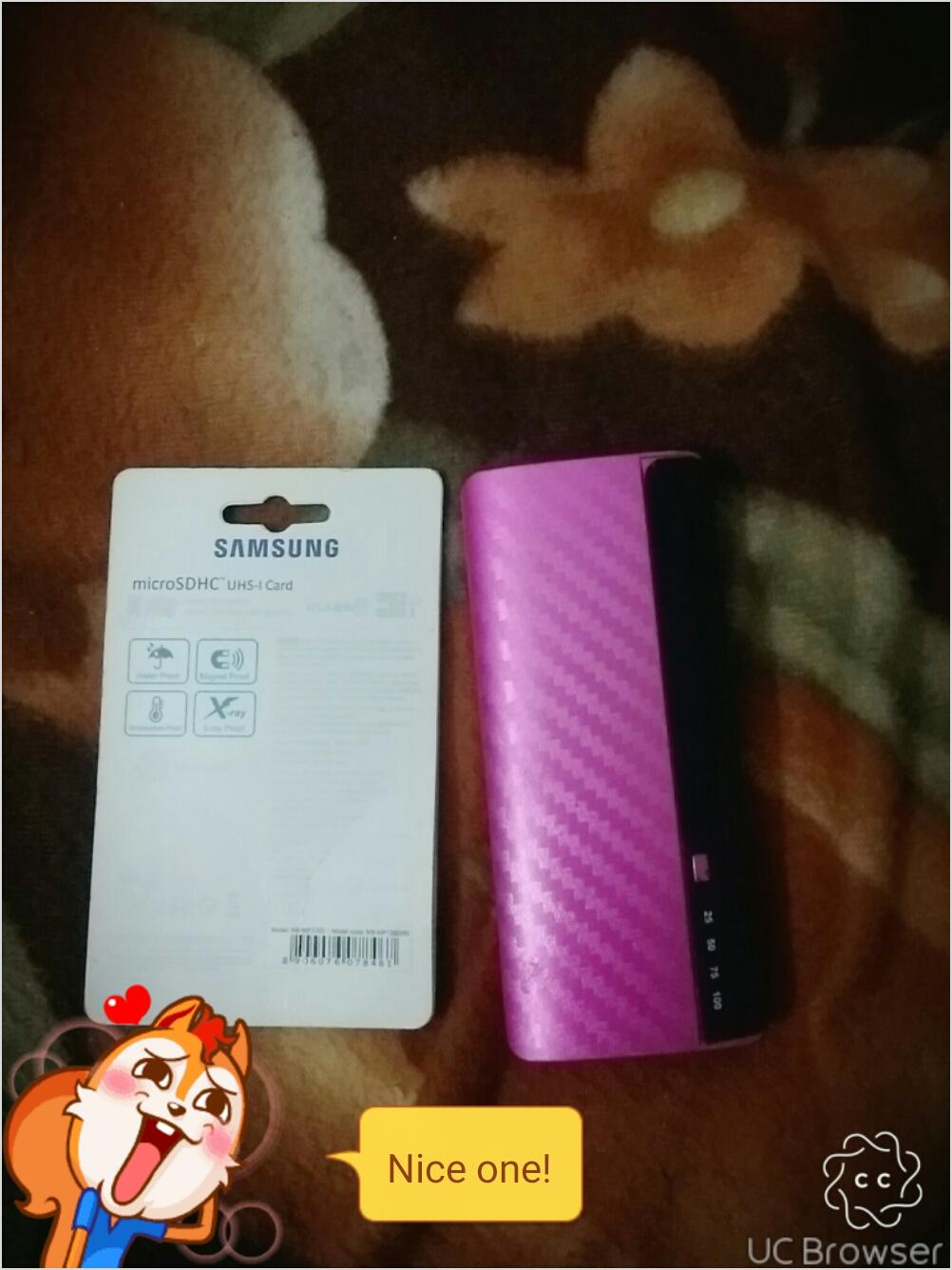 powerbank and memmory card
