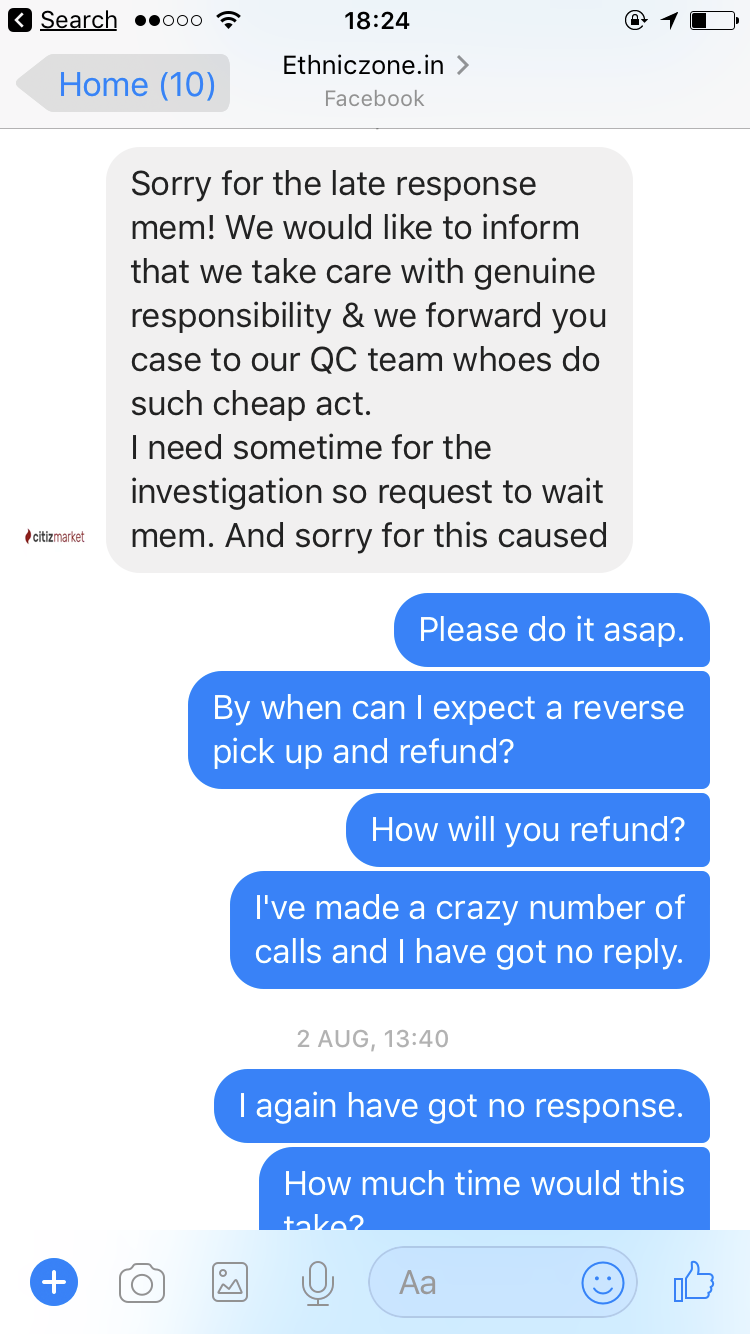 sent a wrong product on purpose and did not return my money