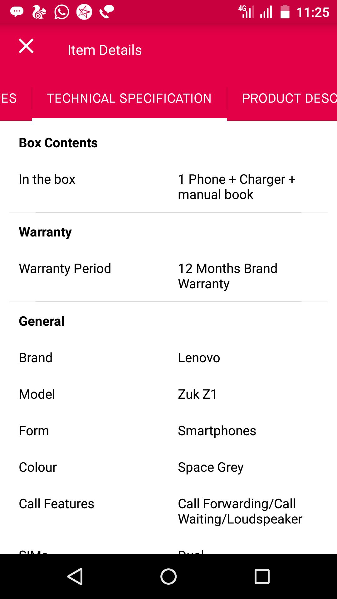 lenovo zuk z1 mobile warranty related