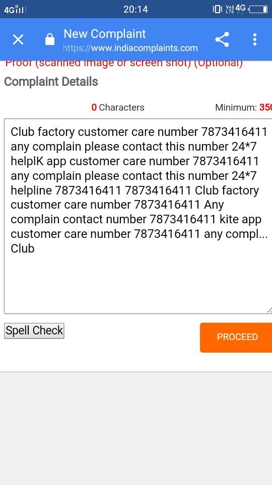 club factory helpline number 9064205480