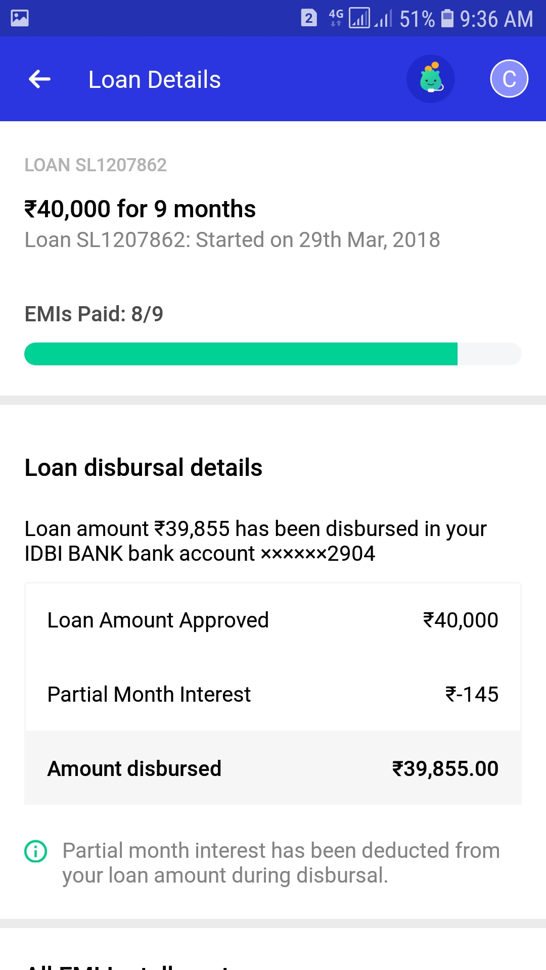 Loan disbursal