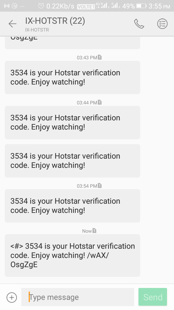 Hostar verification code releted questions