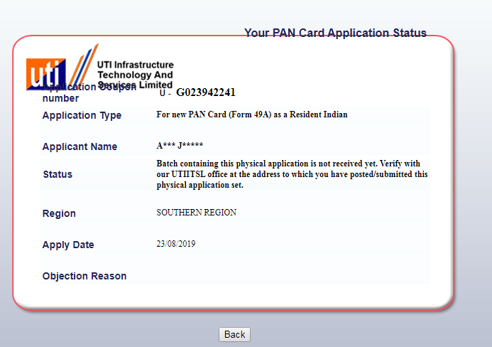 Not issuing pan card...fraud
