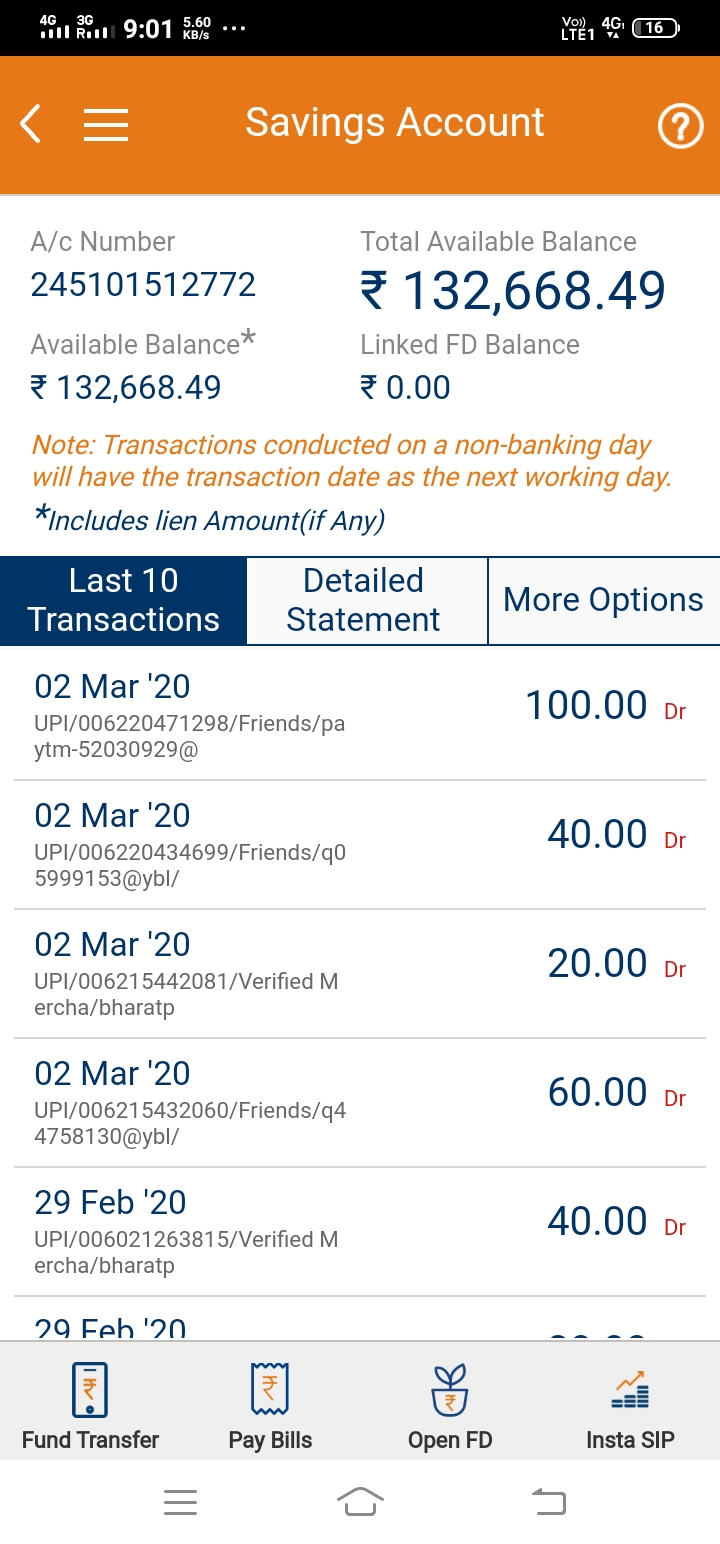 Transaction successful but they are saying money not credited and hence denied me