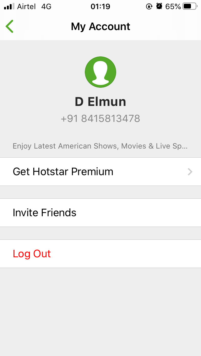 Hotstar VIP Subscription